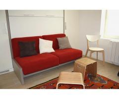 Furnished studio (19sqm) rue Fauvet, Paris 18th arrondissement. Ground floor