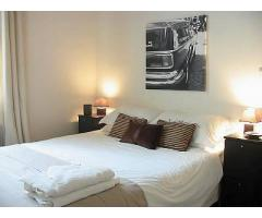 Elegant one-bedroom offers a stylish and full furnishings amenities (Le Marais)